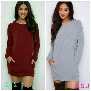 Dresses & Skirts - Short Sweater Dress with Pockets NEW never worn